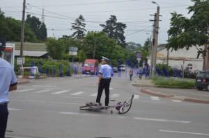 politist accident bicicleta