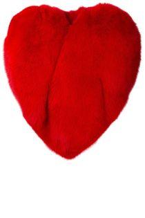 Saint Laurent heart fur coat $9,300