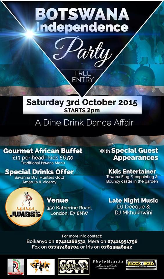 Botswana Independence Day 2015 Flyer 2