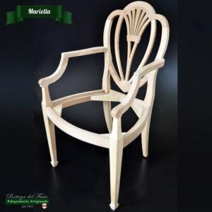 Mariella – Fusto per sedia in legno massello di noce
