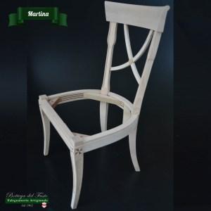 Martina – Fusto per sedia in legno massello