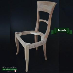 Miranda – Fusto per sedia in legno massello di noce