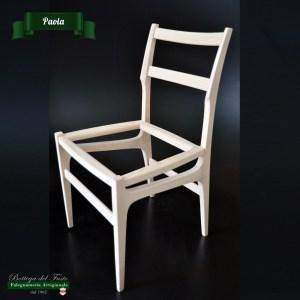 Paola – Fusto per sedia in legno massello