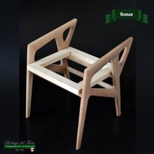 Romea – Fusto per sgabello in legno massello di noce