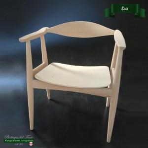 Eva – Fusto per seduta in legno massello di faggio