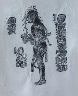 Sketch: Mayan Man II| 2016 | ORIGINAL SOLD | ©LESLIE M. GUZMÁN