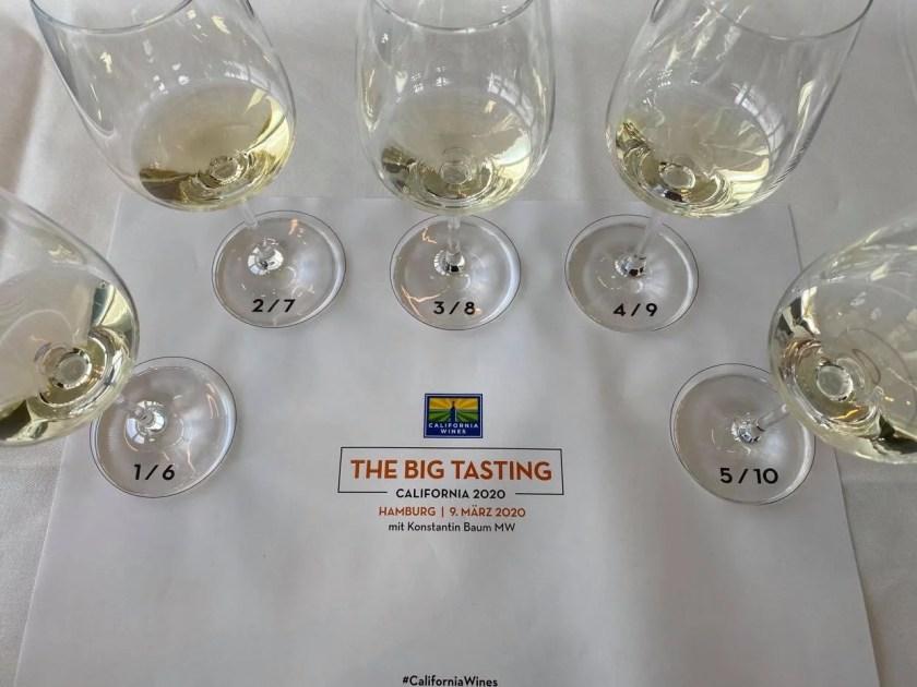 5 Chardonnays in der Blindverkostung