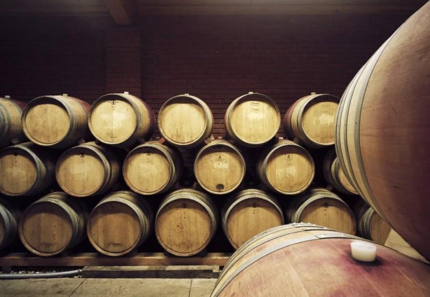 Fasskeller vom Weingut Hans Nittnaus