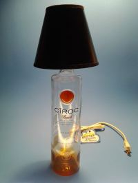 Ciroc Peach Vodka Liquor Bottle Table Lamp W/ Black Shade ...