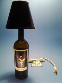 The Prisoner Wine Bottle Table Lamp W/ Black Shade ...