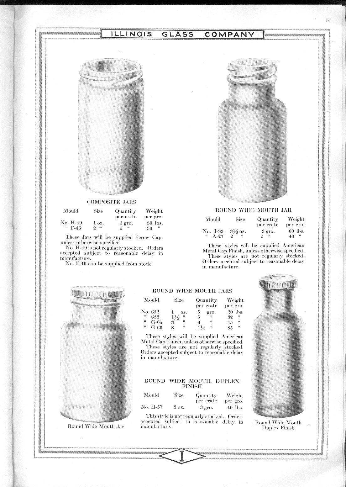 Illinois Glass Co Catalog