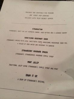 Stranahan's delicious whiskey cocktail menu