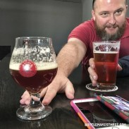 Jeff sharing his Big Ass Bitch (English Strong Ale) at Dead Hippie Brewing, Sheridan CO | BottleMakesThree.com