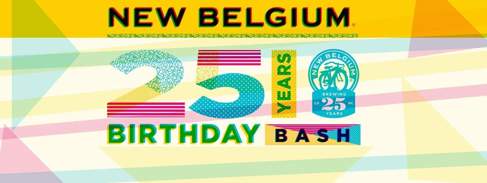 New Belgium Brewing 25 Year Birthday Bash | July 2016 Events | BottleMakesThree.com