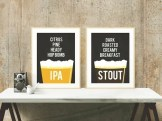 Printable Beer Art from KandCCreative on Esty. | Super-Last-Minute Gifts for Beer Lovers | BottleMakesThree.com