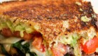 Loaded Veggie Grilled Cheese Sandwich from The Dreaming Foodie   'Celebrate with 8' for Grilled Cheese Sandwich Day   Bottom Left of the Mitten