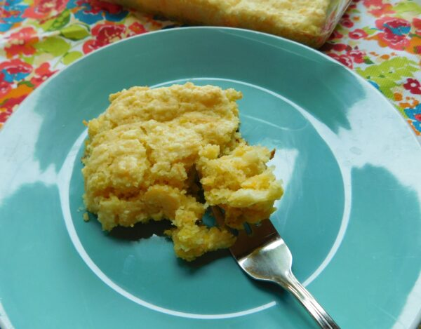 Corn Pudding from Bottom Left of the Mitten