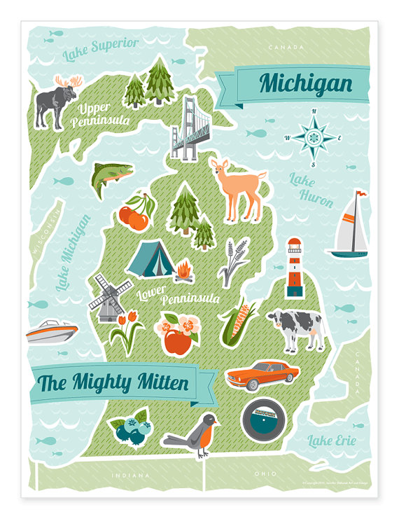 Michigan Print | The Picadilly Project