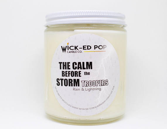 The Calm Before the Stormtroopers - Star Wars Inspired Candle from WickedPopCandleCo   Star Wars Gift Guide   Bottom Left of the Mitten