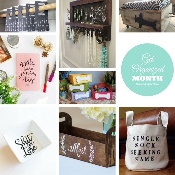 'Celebrate with 8' for Get Organized Month | Bottom Left of the Mitten #organized #gifts #january