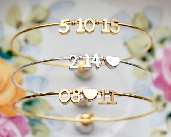 Date Bangle Bracelet from TomDesign | Valentine's Day Gift Guide | Bottom Left of the Mitten