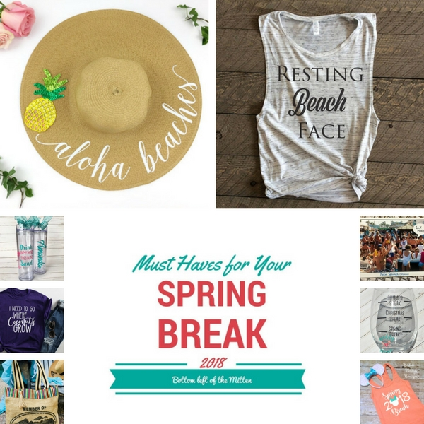 'Celebrate with 8' Must Have's for Spring Break | Bottom Left of the Mitten