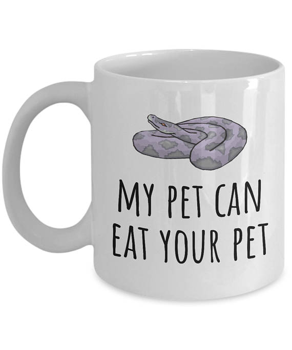 Funny Herpetology Mug from RealPeopleGoods | Celebrate with 8 for National Pet Day | Bottom Left of the Mitten