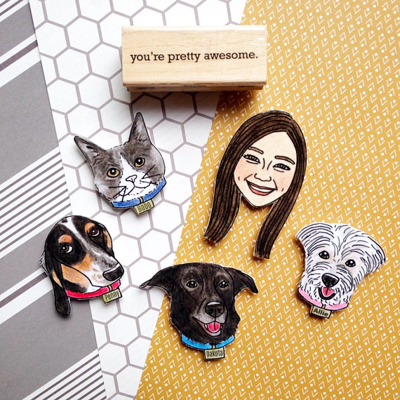 Custom Pet Magnet from KitAtlas | Celebrate with 8 for National Pet Day | Bottom Left of the Mitten