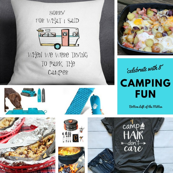 'Celebrate with 8' Camping Fun | Bottom Left of the Mitten