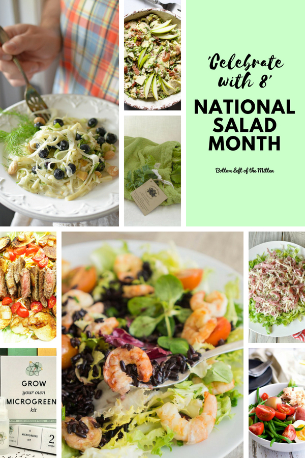 Salad can be a small side or a big meal. Break out the salad bowl and let's Celebrate with 8 for National Salad Month. #nationalsaladmonth #salad #gardening #growyourown