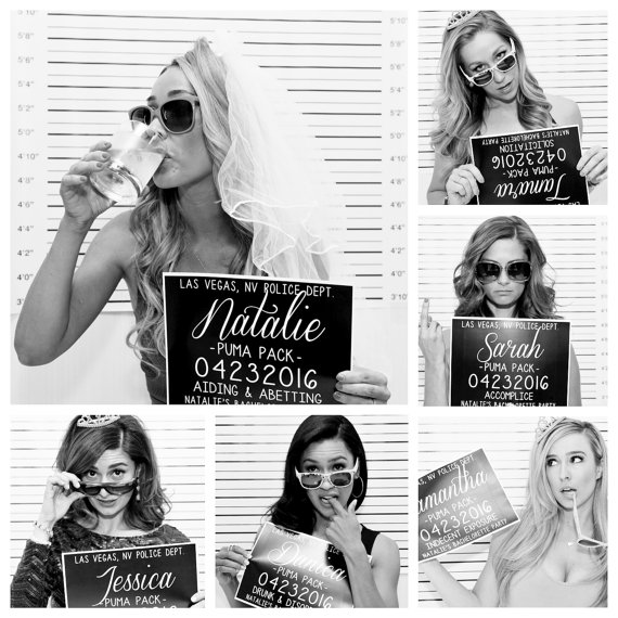 Bachelorette Party Mugshot Signs from FrankieandClaudeshop | 'Celebrate with 8' Bachelorette Party Fun | Bottom Left of the Mitten