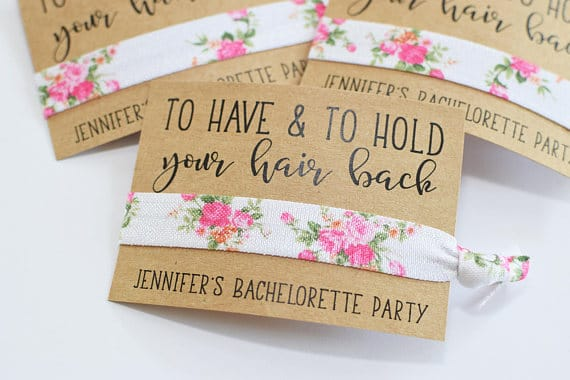 To Have & To Hold Your Hair Back by MelissaLynneDesign | 'Celebrate with 8' Bachelorette Party Fun | Bottom Left of the Mitten