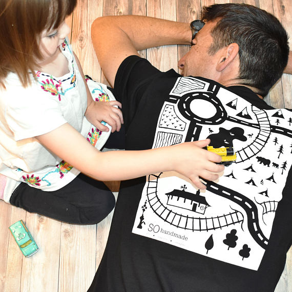 Mens Train Track Shirt from SOhandmade1 | Fathers Day Gift Guide | Bottom Left of the Mitten