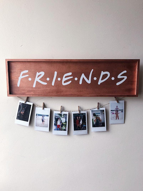 FRIENDS TV Show Wood Picture Sign from shopbohomey | Celebrate with 8 for Friendship Day | Bottom Left of the Mitten