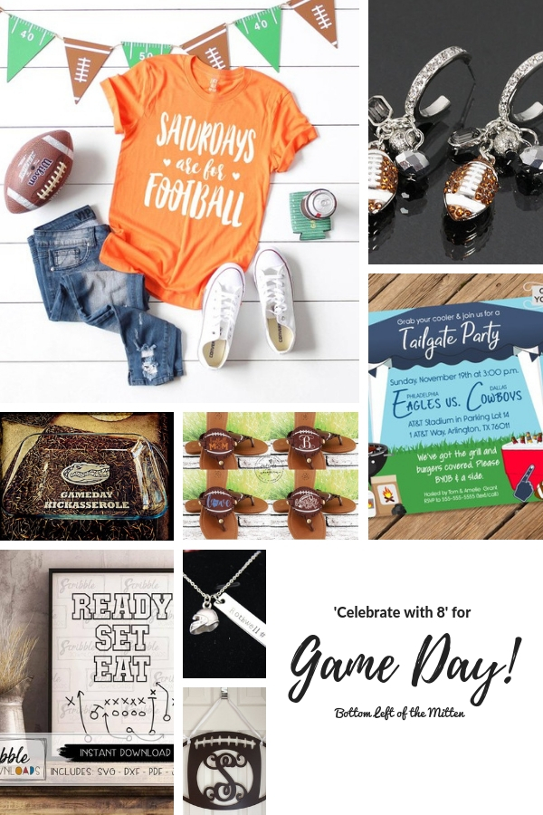 Support your team with this list of fun ways to celebrate Game Day! From t-shirts, jewelry and home decor there is no better way to show your team pride. #gameday #teampride #tailgating #gamedaygear #footballfan #fanfavorites