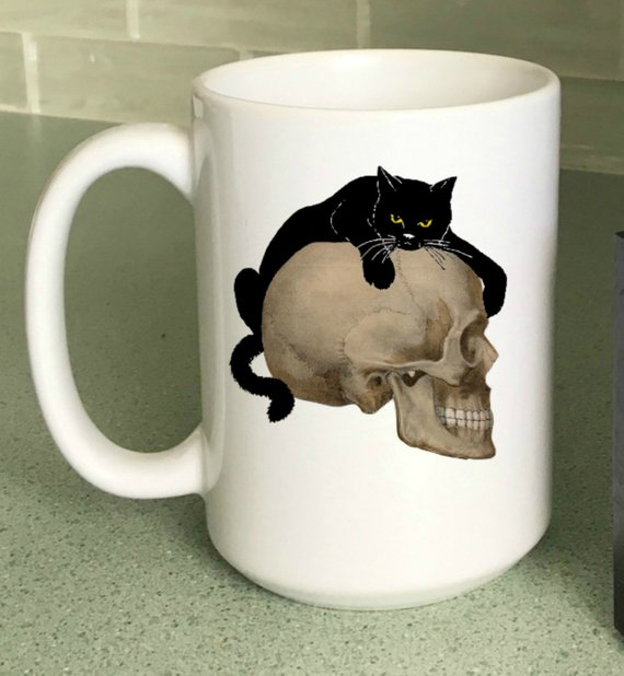 Halloween Coffee Mug from StickandPatti | Halloween 2018 | Bottom Left of the Mitten