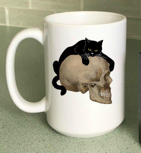 Halloween Coffee Mug from StickandPatti | Halloween 2018 | Bottom Left of the Mitten