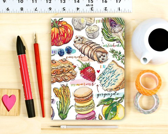 Foodie notebook from LouPaper | Foodie Gift Guide | Bottom Left of the Mitten