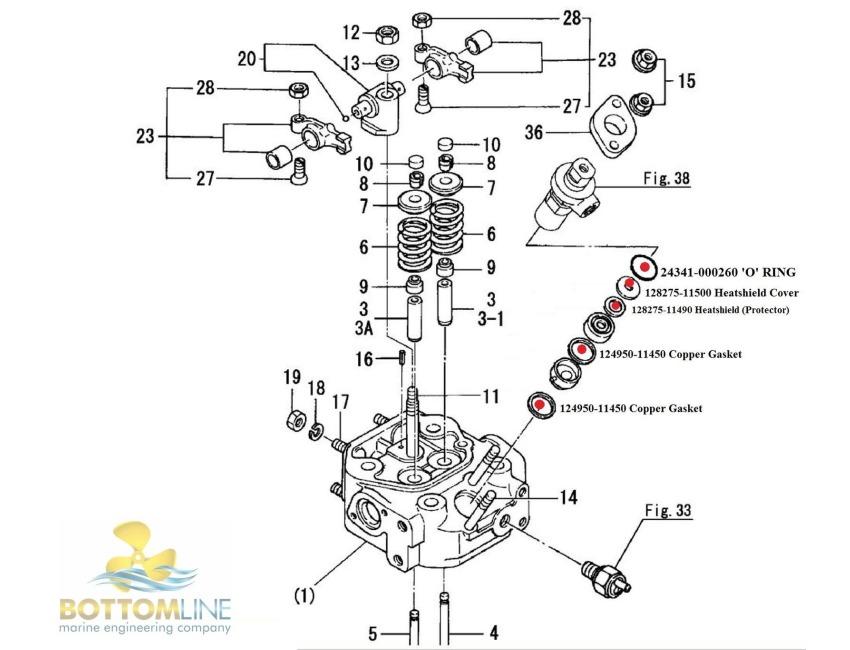 Injectors Yanmar Engine Parts Lookup. Injectors. Tractor