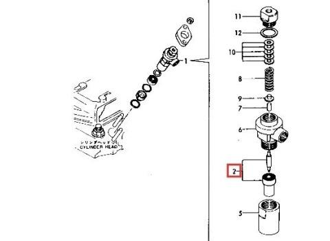 YANMAR Fuel Injector Nozzle Assy 1GM, 1GM10, 2QM15, 2GM