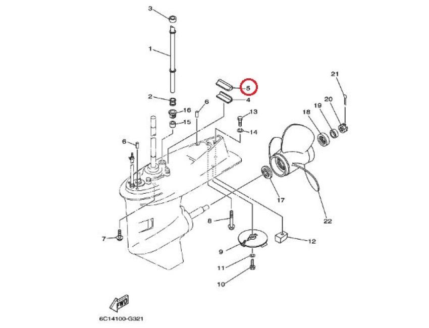 Yamaha Outboard 40hp/50hp/60hp Water Pump Damper Seal
