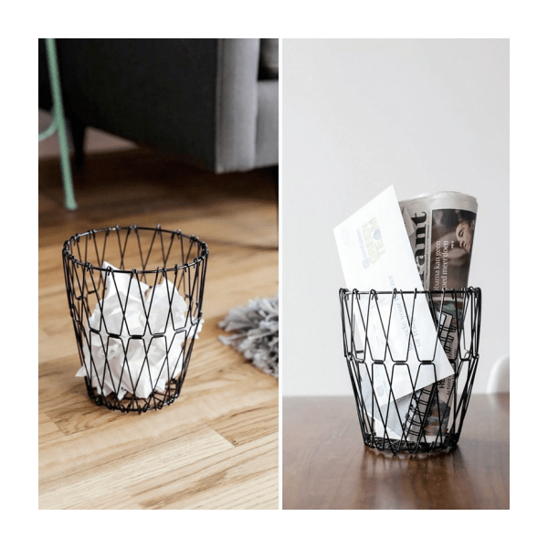 Folding wire basket by Kikkerland