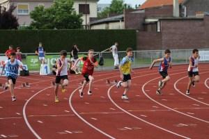 Maxime au départ de la finale du 100m