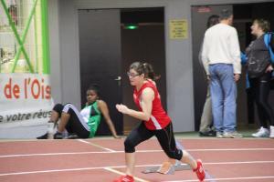 Camille au départ du 200m