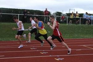 Maxime au départ du 100m