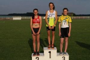 Podium du 1000m minimes filles