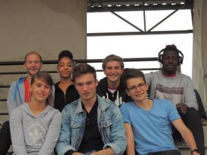 Le groupe au presque complet: il manque Malika qui était restée dormir à Beauvais...
