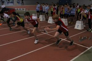 Erwan et Armand au départ du 50m