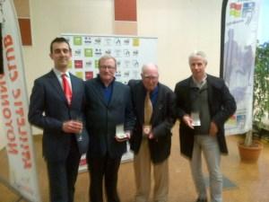 Thomas aux côtés des médaillés Jacques, Michel et Patrick