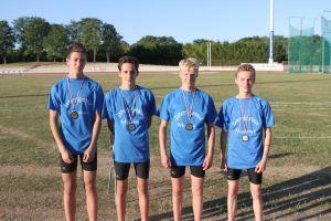 Notre quatuor vice-champion de l'interrégion au relais